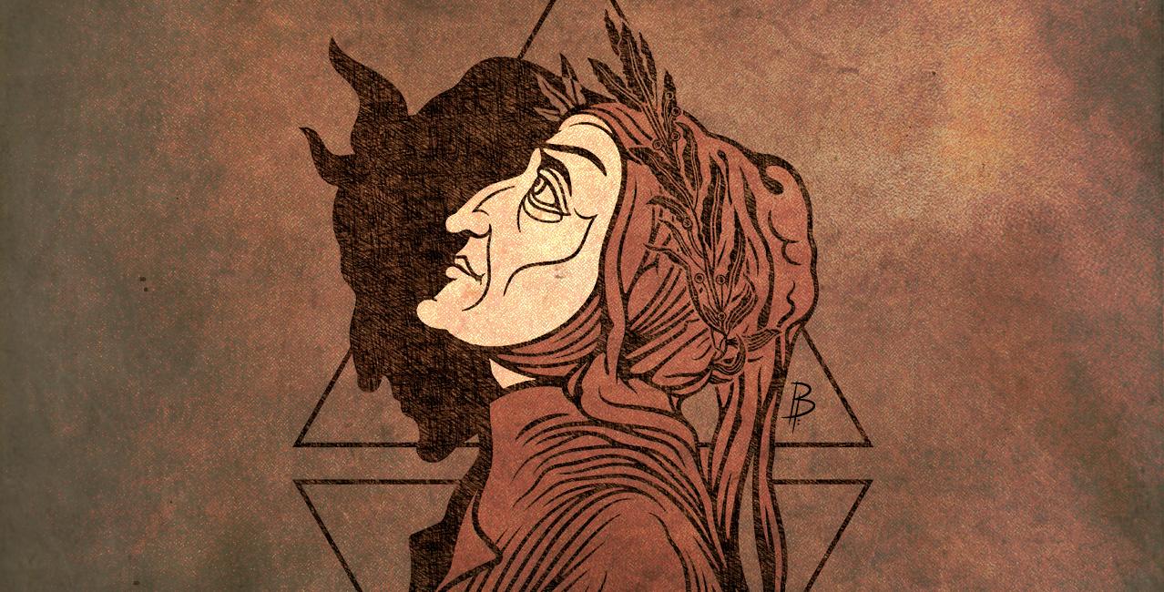 XIII SGM - Ilustración de Dante Alighieri por Billyphobia para Sui Generis Madrid © Besarilia 2021